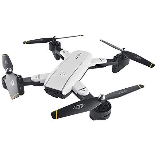 A 1080P HD WIFI-Kamera Faltbare Drohne Geeignet for Erwachsene und Kinder, Weitwinkel-FPV-Echtzeit-Video, Höhengriff, Folgen Sie mir und automatische Rückgabefunktionen, einfach for Anfänger bis White