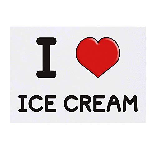 Grand 'I Love Ice Cream' Tatouages temporaires (TO00000651)