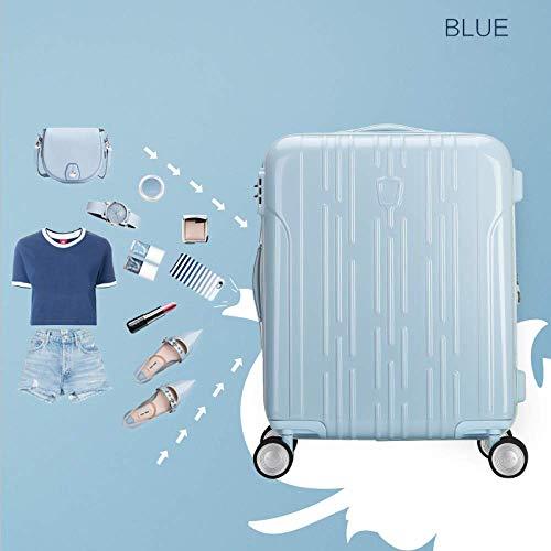 HZY Valigia Grande capacità per Valigie Portabagagli Universale per Ruote,LightBlue-20Inch