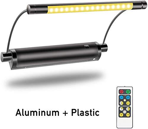 HONWELL Bilderleuchte LED Batteriebetrieben Wandleuchte mit Fernbedienung Uplight, Drehbare Lichtköpfe mit Timer-Dimmer, Kunstlichter für Gemälderahmen Wandspiegel Artwork - Schwarz