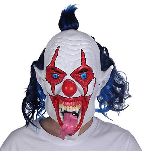 XIAMAZ Halloween Cosplay Masker Enge Clown Maskerade Horror Latex Masker Horror Grappig Masker Pasen Pak
