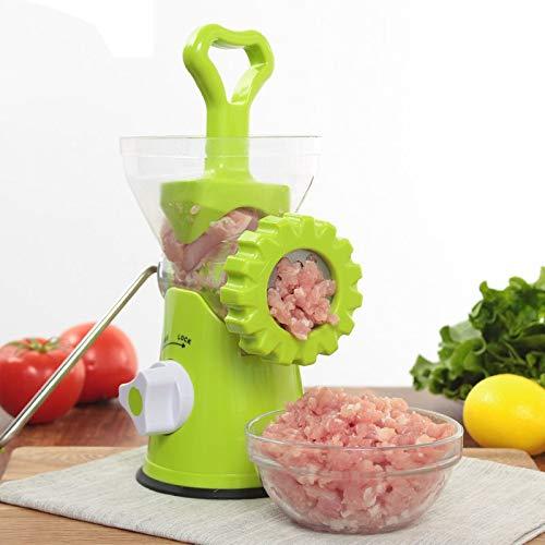 HUANGMENG Hachoir à viande manuel en acier inoxydable ménage Gadget B266 (vert) (Couleur : Green)