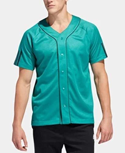adidas Men's Baseball Jersey Green 2XL