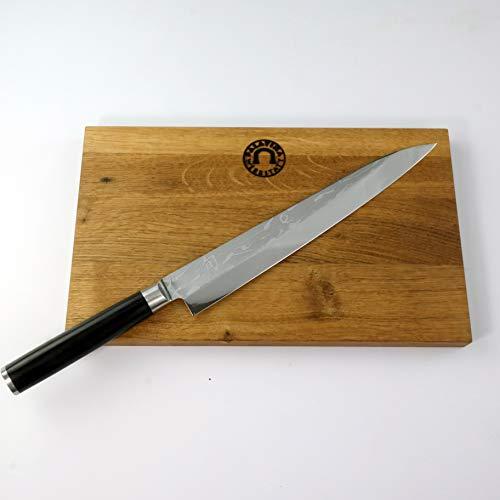 Kai Shun Geschenkset | Pro SHO VG-0005 Deba Yanagiba Messer 24 cm | + von Hand gefertigtes Schneidebrett aus Fassholz, 30x18 cm | 235,- €