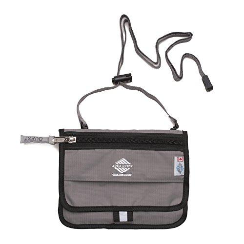Aqua Quest Hipster 100% wasserdicht Reisetasche für Reisepass, Dokumente, Zubehör, Tragen als Neck-Tasche oder am Gürtel für Männer & Frauen
