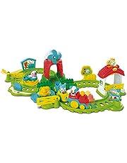 Clementoni 59200 Farm-Eisendron, kolorowa zabawa z gospodarstwa rolnego, lokomotywy napędzane silnikiem, słodkie figurki zwierząt, efekty dźwiękowe i melodie, zabawka dla małych dzieci od 12 miesięcy