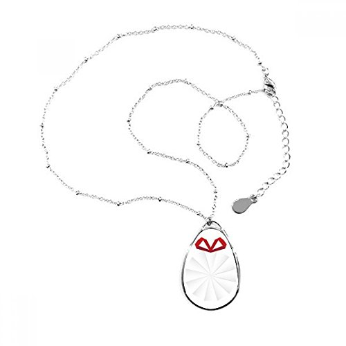 DIYthinker Collar con Colgante en Forma de lágrima, diseño de Origami, Color Blanco
