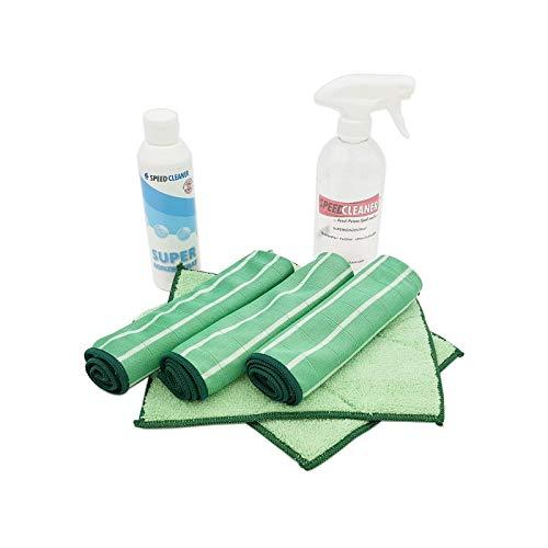Speed-Cleaner Reinigungstücher Set – mit Vorwasch und Poliertüchern inkl. Reiniger & Sprühflasche 7tlg. Set