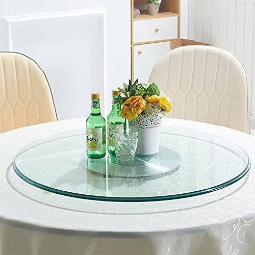 Cucina Lazy Susan Giradischi 10 Mm di Spessore Girevole A 360 ° Rotondo Tavolo da Pranzo Vassoio A Prova di Esplosione Piatto da Portata Resistente Facile da Condividere Cibo