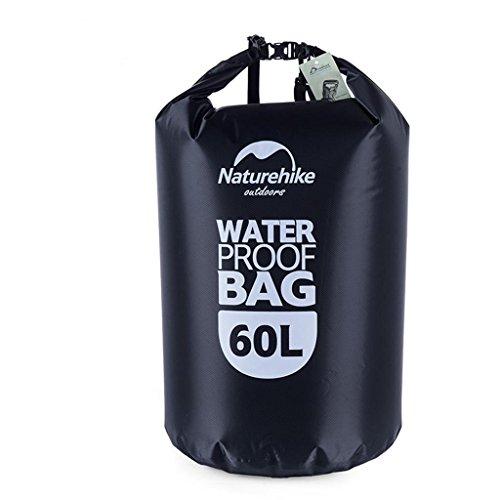 TRRE Voyage en plein air sacs étanches sac dérivantes snorkeling plage natation sac, 5L / 20L / 60L ( Couleur : Noir , taille : 60 l )