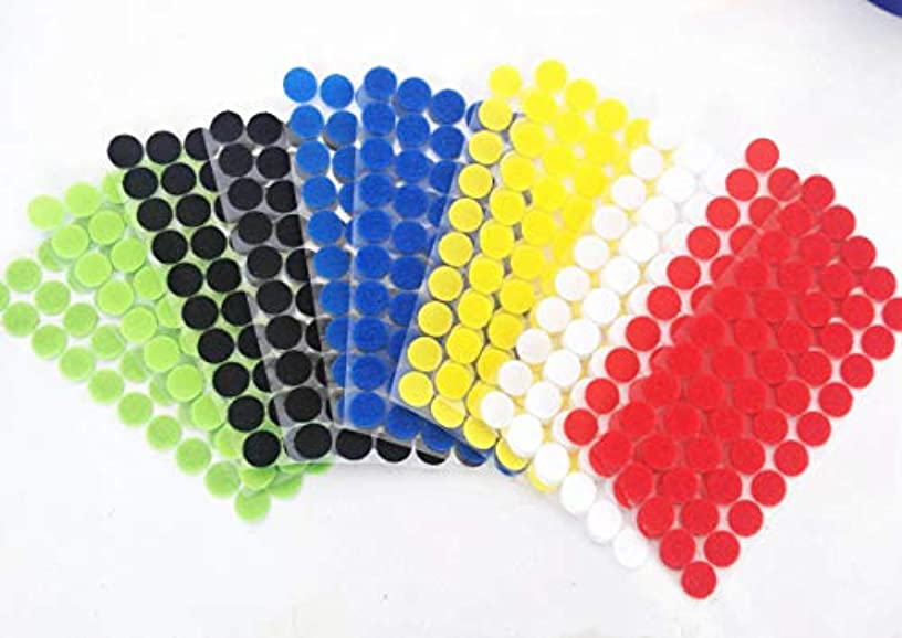 600pcs (300 Pair Sets) 3/4' Diameter Sticky Colorful Coins Self Adhesive Dots Black Compatible with Hook Loop