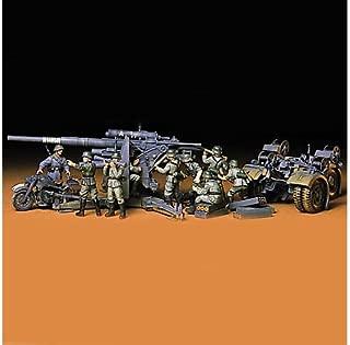 Tamiya 300035017 - Maqueta de cañón antiaéreo con Motocicleta y 9 Soldados (época: 2ª GM, Escala: 1:35)