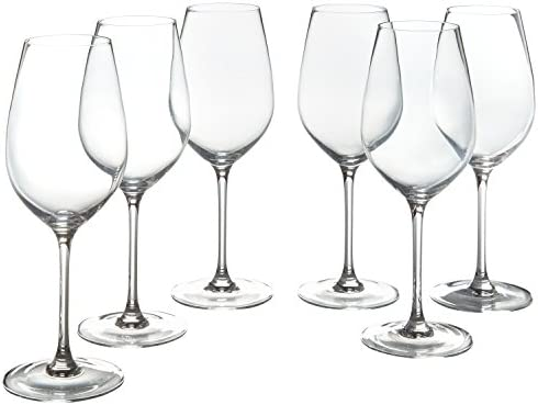 Amazon Brand – Stone & Beam Traditional White Wine Glass, 16-Ounce, Set of 6