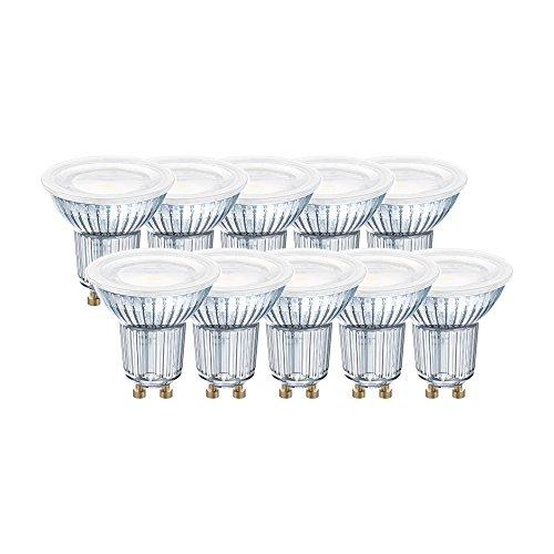 Osram LED-Reflektorlampe| Warm White (2700 K) | Sockel GU10 |ersetzt Reflektorlampen mit 80 W | 6,90 W | 120° Ausstrahlungswinkel | LED STAR PAR16