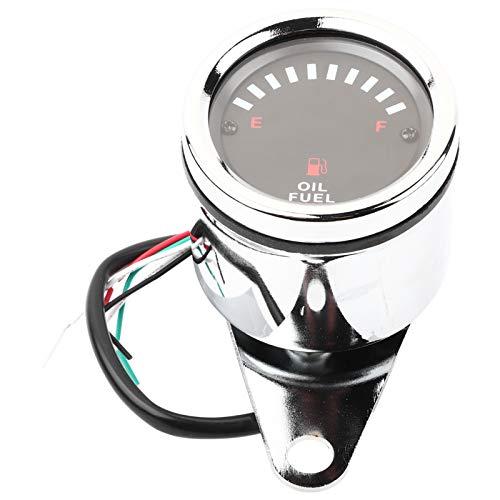 Gorgeri DC 12V Universal Moto Coche Pantalla LED Medidor de combustible eléctrico Medidor electrónico de medidor de aceite