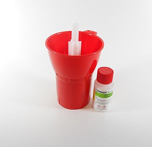 'Botella 'SPIN Lavavajillas + 100g Limpieza chemipro OXI–Botella de limpiador para cerveza y botellas de vino y limpiador a base de oxígeno
