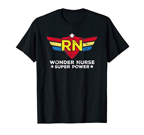 Wonder Nurse RN Registered Nurse Gift Superhero T-Shirt
