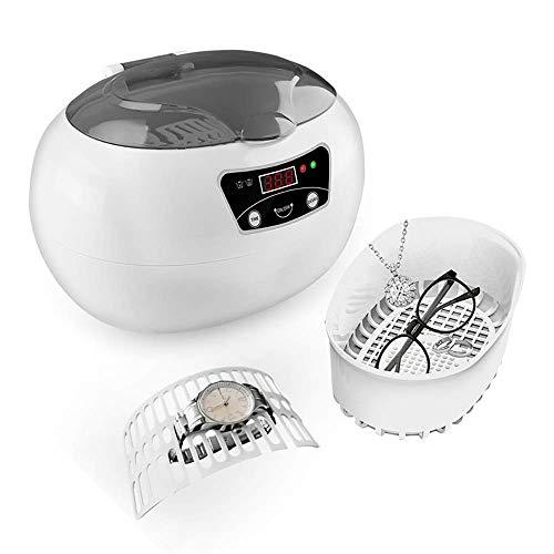 Ultraschall-reinigungsgerät, 600ml 35w Profi-ultraschallbad Mit Digitaltimer-reinigungskorb Für Schmuck Silberringe Halskette Zahnersatz Münzen