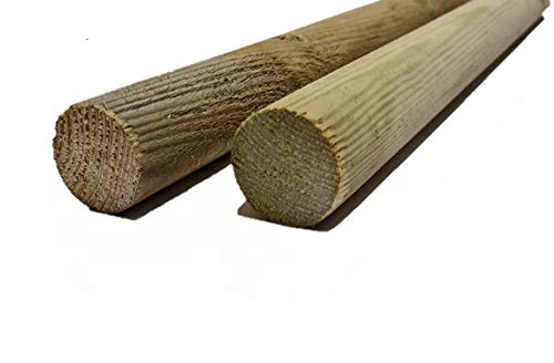 Gartenwelt Riegelsberger Rundholz Kiefer Holzsprosse imprägniert Ø 3,5 cm Länge 50 cm