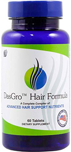 DasGro Hair Growth Vitamins, Biotin & DHT Blocker, Stops Hair Loss, Thinning, Balding, Promotes Hair Regrowth in Men & Women, All Hair Types, 30 Day Supply