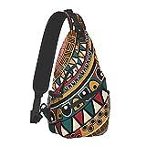 Yuanmeiju Sac à dos à bandoulière motif de redevance ethnique tribal, sac à dos de randonnée de voyage sac à bandoulière décontracté pour hommes et femmes