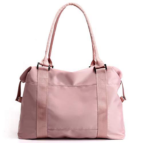 Forestfish Carry On Luggage Bag Sports Gym Bag Travel Duffel Bag, Pink