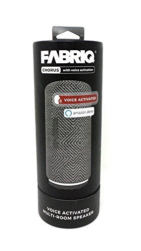 Amazing Deal FABRIQ Chorus Bluetooth Wireless Speaker Voice Activated Amazon Alexa Gray
