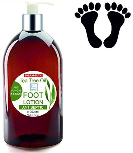 2en1 Crema Anti Hongos Uñas Crema de Pies Hidratante Anti Olor Pies con Aceite de Árbol de Té Potente Anti fungal 250 ml