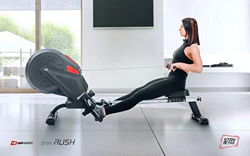 Hop-Sport Luft-Rudergerät Rush Air-Rower mit Computer, Luft Air Rower klappbar für Zuhause, 8 Luftwiderstandsstufen - 3