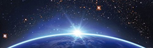 1art1 Der Weltraum - Sternenhimmel Über Dem Erdhorizont, 1-Teilig Fototapete Poster-Tapete 250 x 79 cm