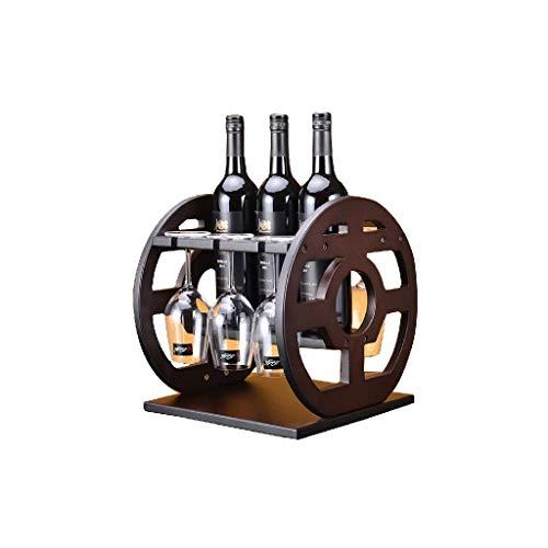 NXYJD Madera Wine Rack Rack Vino, Vino Permanente de Almacenamiento Bastidores, Bastidores Vino encimera, Titular de la Botella de Vino de Madera, Estante del Vino