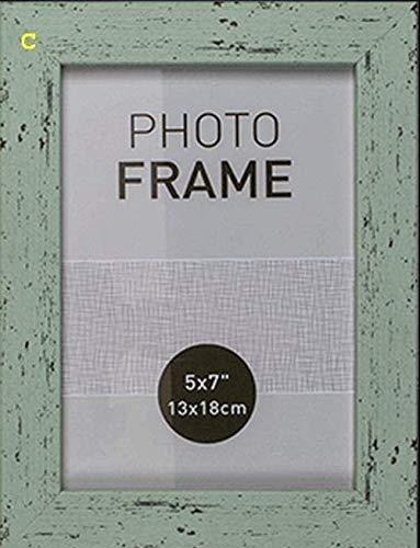 Marco de fotos en color pastel imitación madera modelo C 13x18 cm plástico