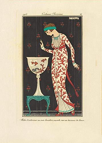 George Barbier 'Journal des Dames et des Modes, Aux Bureaux du Journal des Dames', Pars, Francia, 1913-14, Reproduccin 200 g/m Vintage Classic Art Deco Poster