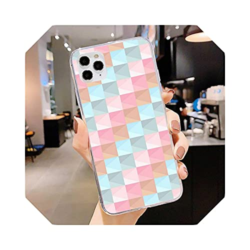 Colorful - Funda para iPhone 11 12 Pro Max Clear Cover XS X XR 7 8 6 6S Plus 5 5S SE 2020 estuche, diseño de cubierta para iPhone SE 2020