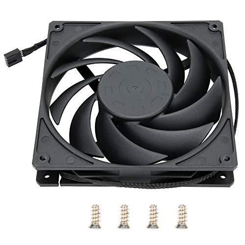 Vipxyc Material de Alta Densidad CPU CPU Ventilador de enfriamiento 14cm Ventilador de enfriamiento de computadora de Escritorio de bajo Ruido Ultra silencioso/Alta Velocidad/Viento Grande.(Negro)