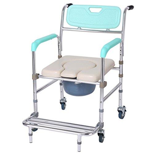 LI Jing Shop - Rehabilitación Silla con Orinal Aleación de Aluminio Inodoro Que Puede Mover el baño Silla de baño Multifunción Plegable Toma el Inodoro (Color : #-004)