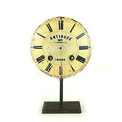 Creative Co-op DA3811 Decorative Metal Clock Face Finial