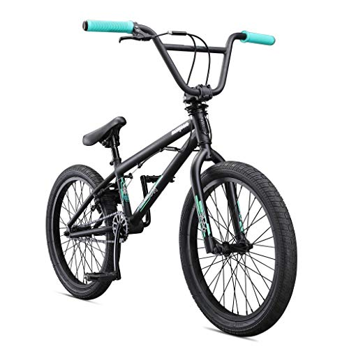 Mongoose Legion L10 Freestyle BMX Bike Line for Beginner-Level to Advanced Riders, Steel Frame, 20-Inch Wheels, Black/Teal