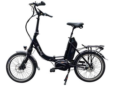 GermanXia Mobilemaster Premium elektrische vouwfiets, 8 g, naafversnelling, Shimano met terugtrap-/rolrem, max. 80 Nm middenmotor met koppelsensor, tot 145 km volgens StVZO.