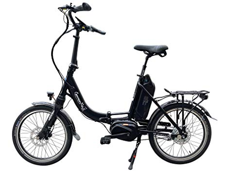 GermanXia® Premium E-Bike E-Faltrad/Klapprad Mobilemaster cm 8G Nabenschaltung Shimano, max. 80 Nm Mittelmotor mit Drehmomentsensor, bis zu 145 km nach StVZO