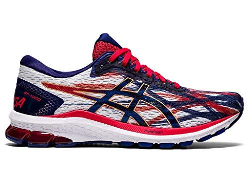 ASICS Men's GT-1000 9 Running Shoes, 8.5M, White/Dive Blue