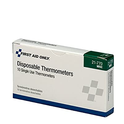 First Aid Only Pac-Kit 21-770 Disposable Thermometer (Box of 10) by First Aid Only