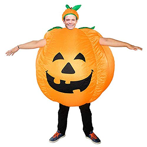 BlueSpace Inflatable Costumes Hallowenn Cosplay Costumes Gaint Pumpkin Suit for Audlts