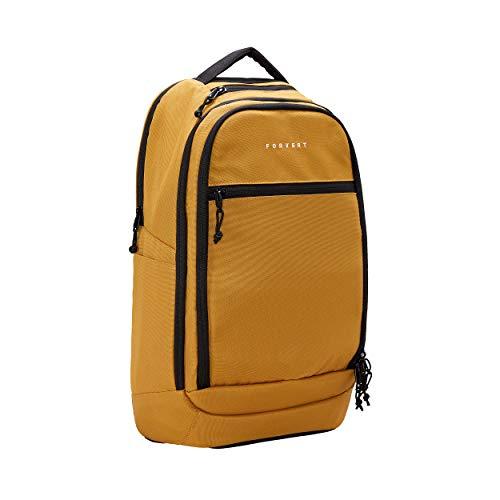FORVERT Leo Unisex Backpack lässiger Daypack,Rucksack mit 15 Zoll Laptopfach,Boardcatcher,gepolsteter Rücken und Trageriemen,Ochre,one Size
