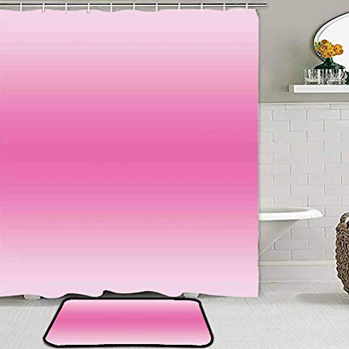 ParadiseDecor Soft Indoor Large Modern Area Rugs Ombre,Fairytale Cotton Candy Inspired Girly Design Room Decorations Digital Modern Art Print,Pink Chair mats for Carpeted Floors