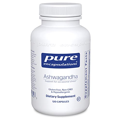 Pure Encapsulations Ashwagandha | Supplement for Thyroid Support, Joints, Adaptogens, Mental Focus, Emotional Wellness, and Memory* | 120 Capsules