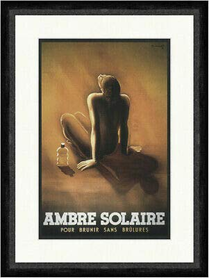 Kunstdruck Ambre Solaire haarwater Kurt Heiligenstaedt 1935 Faks_Poster Wereld 803