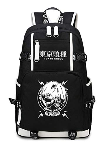 Cosstars Tokyo Ghoul Anime Backpack Schüler Schultasche Laptop Rucksäcke Freizeittasche Daypack Schwarz-5