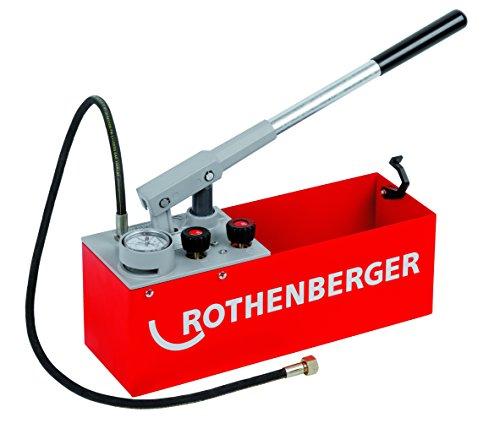 Rothenberger Prüfpumpe RP 50-S (Druckprüfungen bis 60 bar, für Wasser, Öl und Glycol; Saugvolumen 45 LPH) 60200
