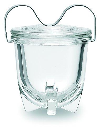 Jenaer Glas 113.499 Eierkocher Nr. 1, Borosilikat-Glas und Edelstahl, 0.065Ltr